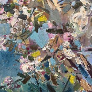Ветки вишни «Синее небо!»
